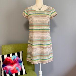 As U Wish Geometric Striped Shift Dress D2